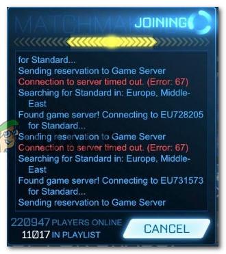 Fix: Fehler 67 Rocket League