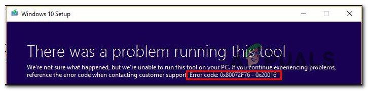 Fix: Fehlercode 0x80072f76 – 0x20016