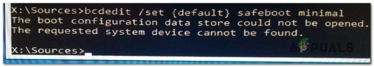 Fix: Der Boot-Konfigurationsdatenspeicher konnte nicht geöffnet werden