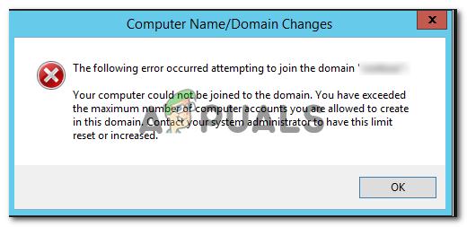 Behebung: Beim Versuch, der Domain beizutreten, ist der folgende Fehler aufgetreten