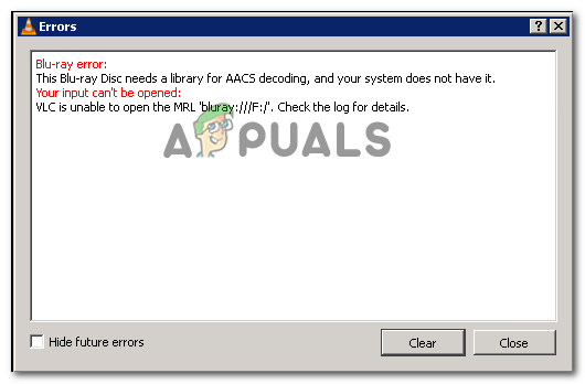 Fix: Diese Blu-ray Disc benötigt eine Bibliothek für die AACS-Dekodierung