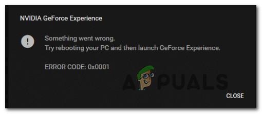 Fix: GeForce Experience Fehlercode 0x0001