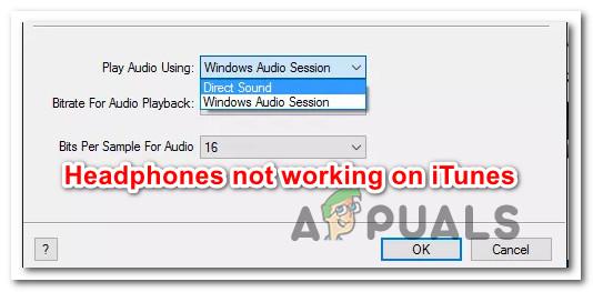 Fix: iTunes wird nicht über Kopfhörer abgespielt