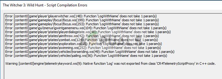 Fix: Witcher 3 Script Compilation Error
