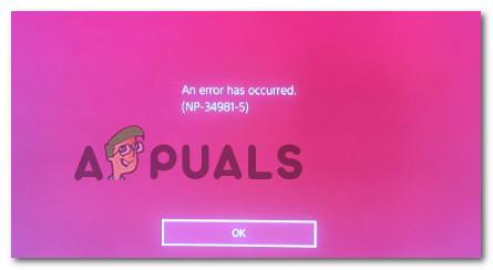 Fix: PS4-Fehler NP-34981-5 – Appuals.com