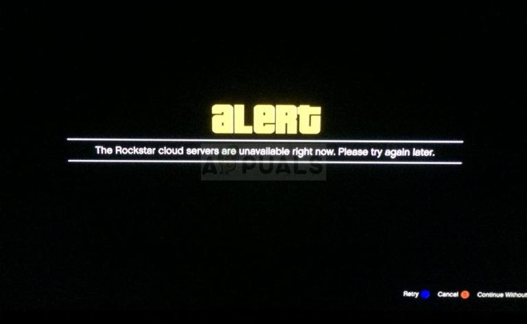 Fix: Rockstar Cloud Server sind nicht verfügbar