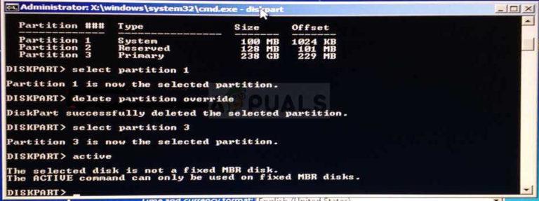 Fix: Der ausgewählte Datenträger ist kein fester MBR-Datenträger