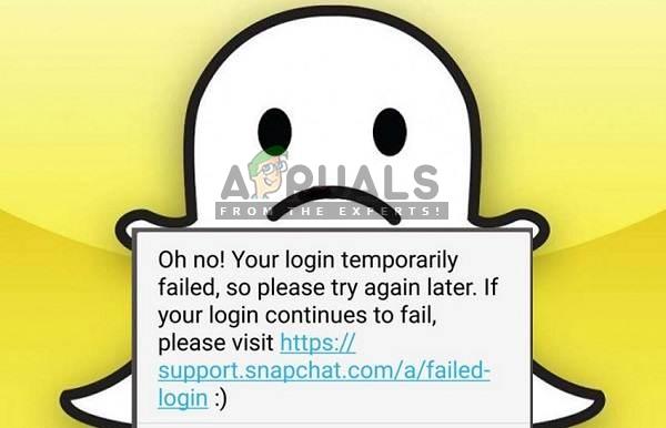 Fix: Snapchat-Anmeldung vorübergehend fehlgeschlagen