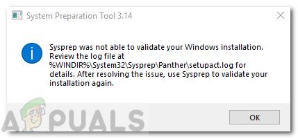 Fix: Sysprep konnte Ihre Windows-Installation nicht überprüfen