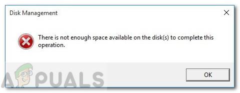 Fix: Auf der Festplatte ist nicht genügend Speicherplatz vorhanden, um diesen Vorgang unter Windows 10 abzuschließen