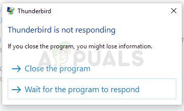 Fix: Thunderbird reagiert unter Windows nicht