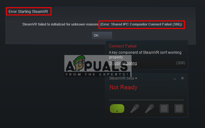 Fix: Shared IPC Compositor Connect fehlgeschlagen 306 auf SteamVR