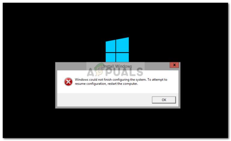Fix: Windows konnte die Konfiguration des Systems nicht abschließen