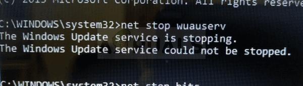 Fix: Windows Update Service konnte nicht gestoppt werden