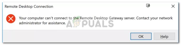 Fix: Ihr Computer kann keine Verbindung zum Remotedesktop-Gateway-Server herstellen