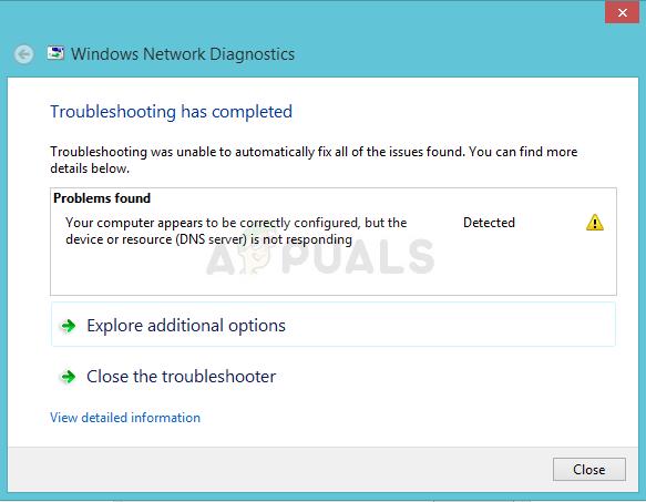 Fix: Ihr Computer scheint korrekt konfiguriert zu sein, aber das Gerät oder die Ressource (DNS-Server) reagiert nicht