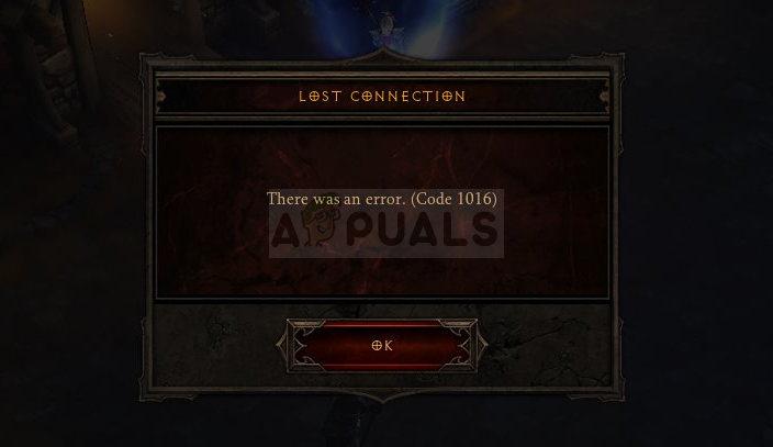 Fix: Diablo 3 Fehlercode 1016