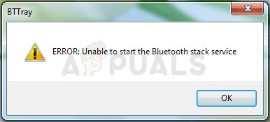 Fix: Bluetooth Stack Service kann nicht gestartet werden