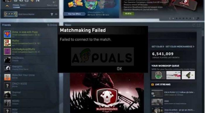 So beheben Sie CS: GO konnte keine Verbindung zum Match herstellen