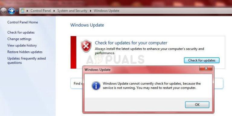 Fix: Windows Update-Dienst wird nicht ausgeführt