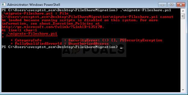 Fix: Die Ausführung von Skripten ist auf diesem System deaktiviert