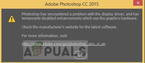 Fix: In Photoshop ist ein Problem mit dem Anzeigetreiber aufgetreten