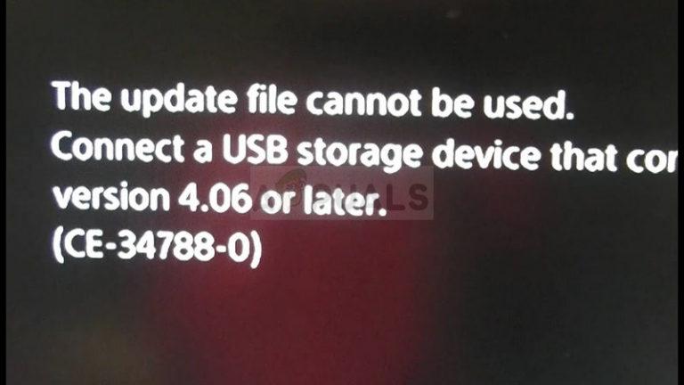 Fix: PS4-Fehler CE-34788-0 – Appuals.com