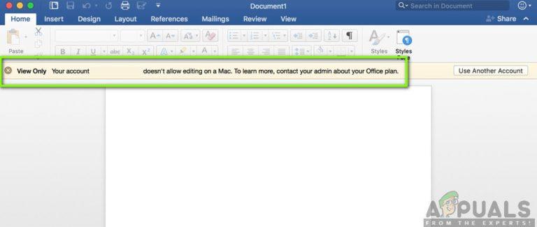 Fix: Konto erlaubt keine Bearbeitung auf einem Mac