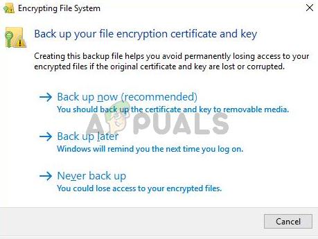 Was ist: Verschlüsselung des Dateisystems 'efs'