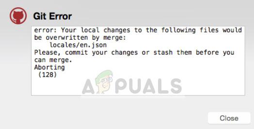So beheben Sie den Git-Fehler 'Ihre lokalen Änderungen an den folgenden Dateien werden durch Zusammenführen überschrieben'