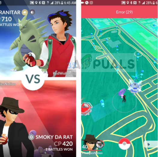 Fix: Pokemon Go Fehler 29