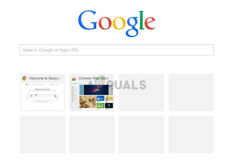 Fix: Die meistbesuchten Miniaturansichten von Google Chrome werden nicht angezeigt