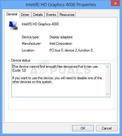 So beheben Sie das Gerät kann nicht genügend freie Ressourcen finden, die es verwenden kann (Code 12)