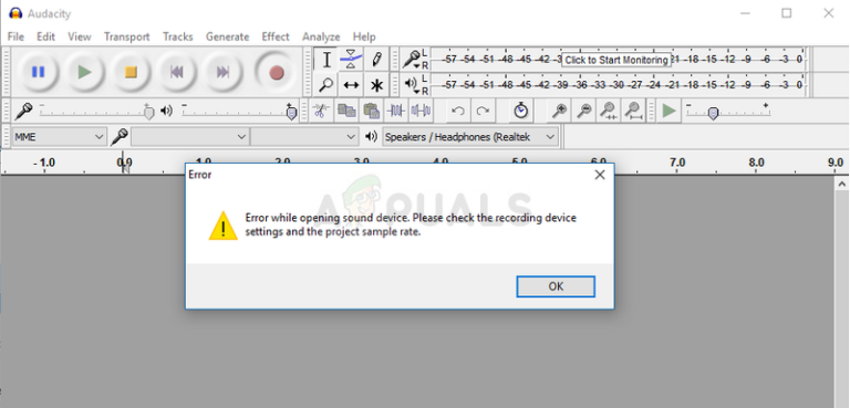 Fix: Audacity 'Fehler beim Öffnen des Audiogeräts'