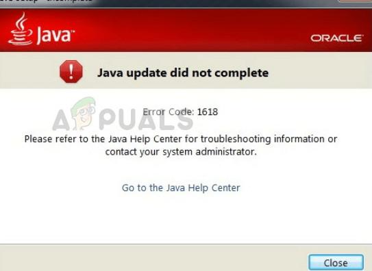 So beheben Sie den Java-Fehlercode 1618
