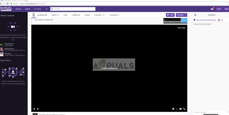 Fix: Twitch Black Screen – Appuals.com