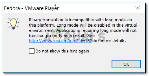 Fix: Die binäre Übersetzung ist nicht mit dem Langmodus kompatibel