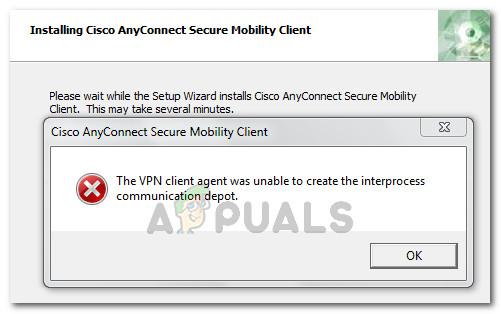 Fix: Der VPN-Client-Agent konnte das Interprozess-Kommunikationsdepot nicht erstellen