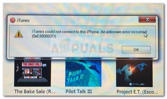 Fix: iTunes-Fehler 0xE800002D – Appuals.com