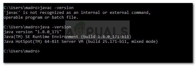 Fix: Javac wird unter Windows 10 nicht erkannt