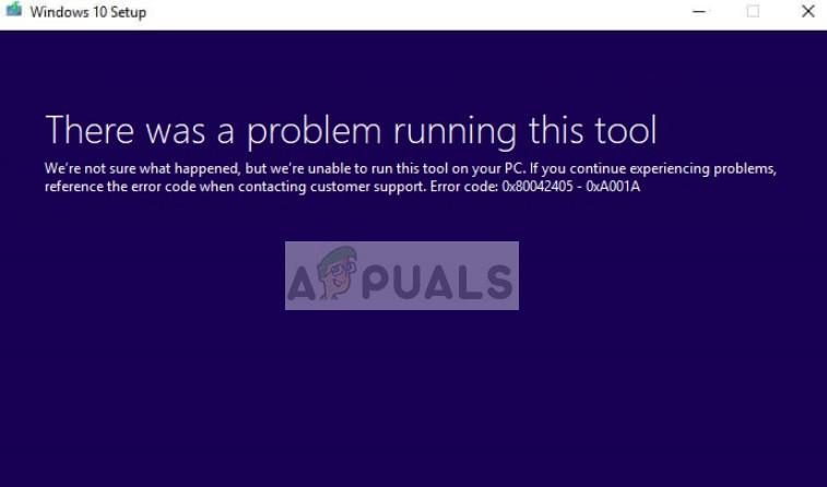 Fix: Fehler beim Media Creation Tool 0x80042405-0xa001a