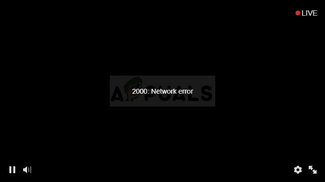 Fix: 2000 Netzwerkfehler bei Twitch