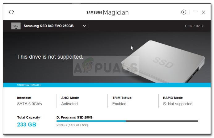 Fix: Samsung Magician erkennt SSD nicht