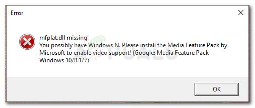 Fix: Mfplat.dll fehlt unter Windows 10