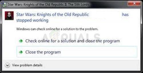 Fix: KOTOR stürzt unter Windows 10 ab