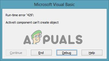 So beheben Sie den Laufzeitfehler 429 unter Windows 10 und früheren Versionen