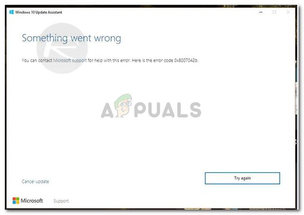 Fix: Windows 10 Update Fehler 0x8007042b