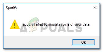 Fix: Spotify konnte einige Ihrer Daten nicht migrieren