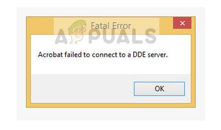 Fix: Acrobat konnte keine Verbindung zu einem DDE-Server herstellen