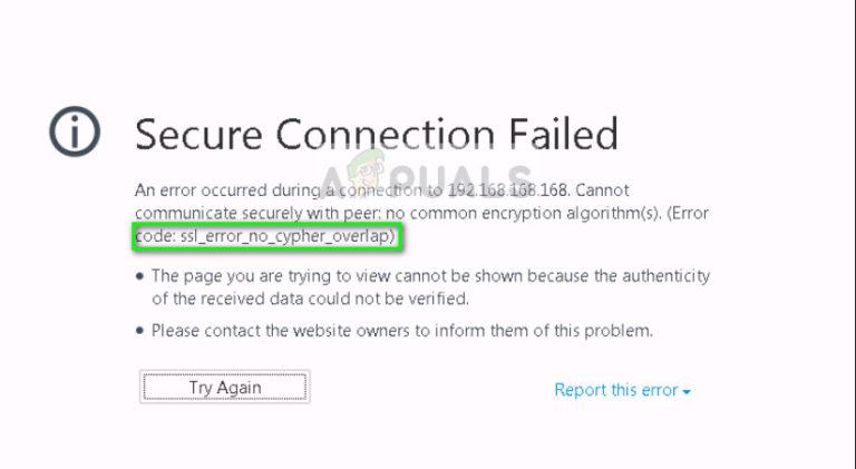 So beheben Sie SSL_ERROR_NO_CYPHER_OVERLAP in Firefox